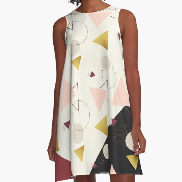 Triangles Mix #redbubble #decor #buyart A-Line Dress