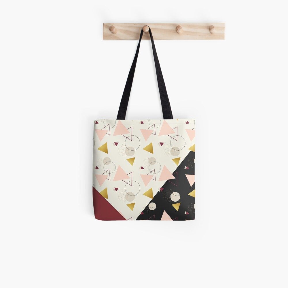 Triangles Mix #redbubble #decor #buyart Tote Bag