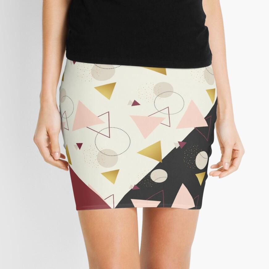 Triangles Mix #redbubble #decor #buyart Mini Skirt