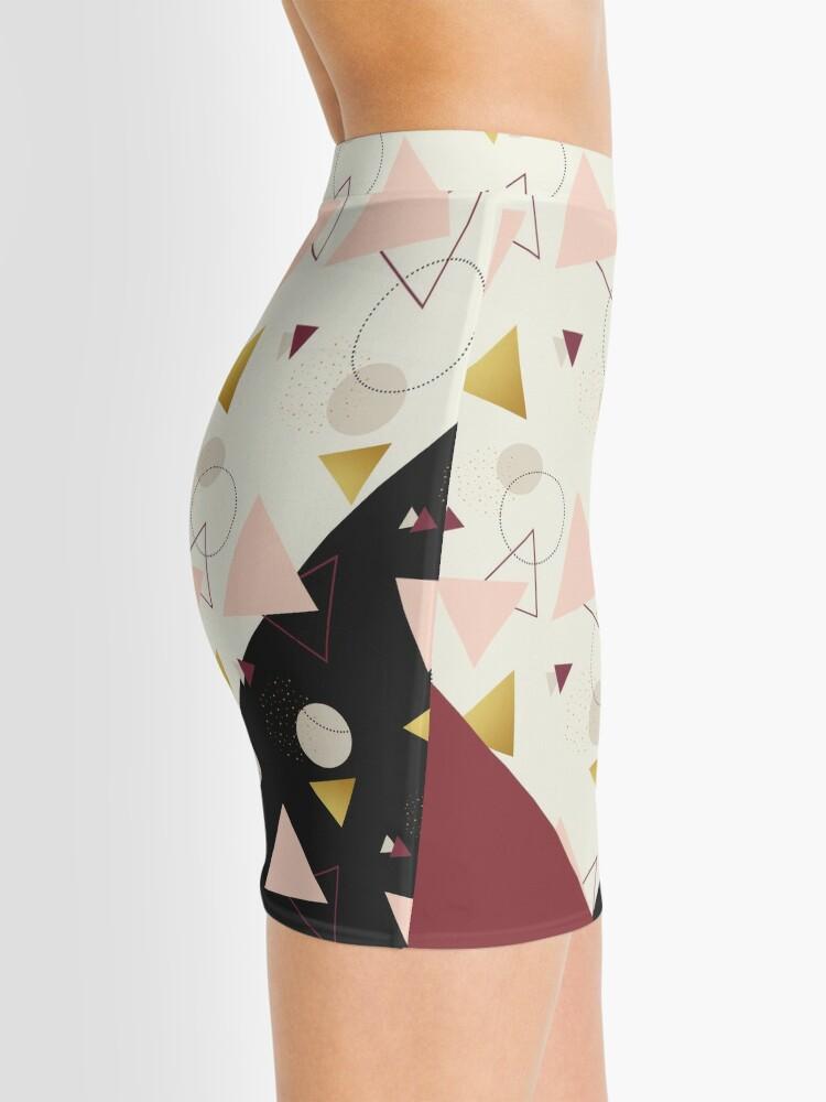 Alternate view of Triangles Mix #redbubble #decor #buyart Mini Skirt