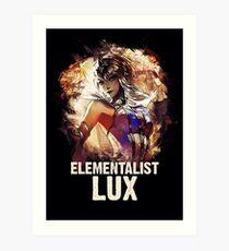 League of Legends ELEMENTALIST LUX Art Print