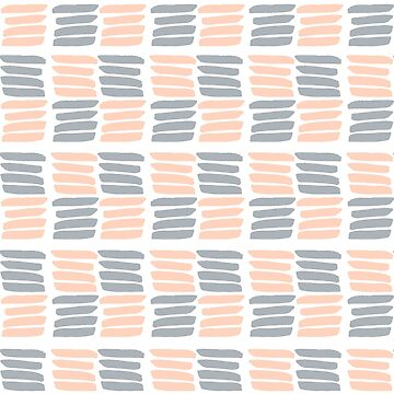 Abstract pattern with brush strokes. by SolodkayaMarina