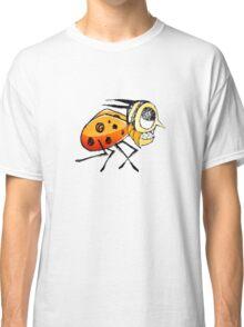Funny Bug Running Hand Drawn Illustration Classic T-Shirt
