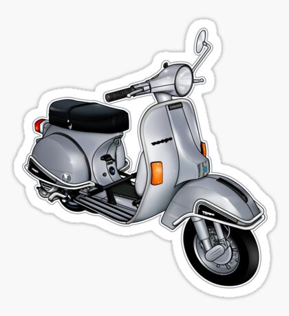 Scooter T-shirts Art: P200e vintage scooter Sticker
