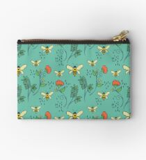 Bees and Flowers Studio Pouch