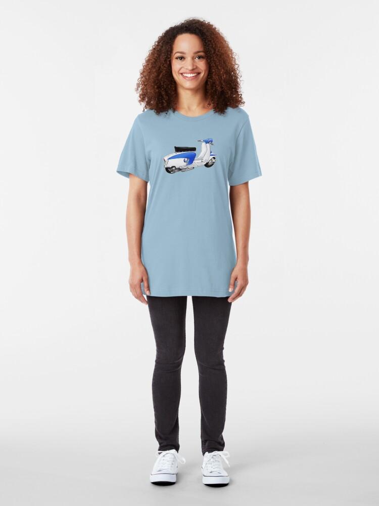 Alternate view of Scooter T-shirts Art: TV 175 Lambretta illustration Slim Fit T-Shirt