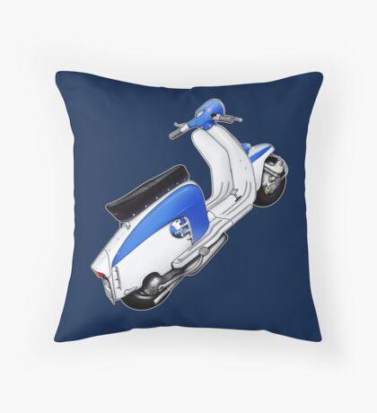 Scooter T-shirts Art: TV 175 Lambretta illustration Throw Pillow