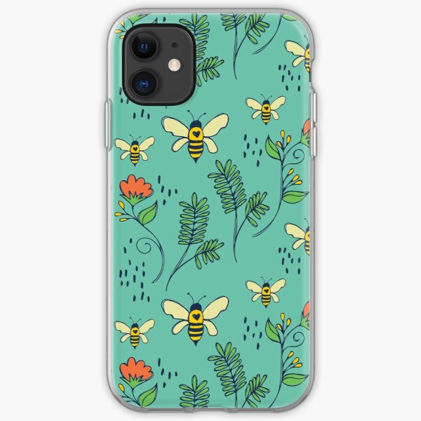 Bees and Flowers iPhone Soft Case