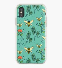 Bees and Flowers iPhone Case