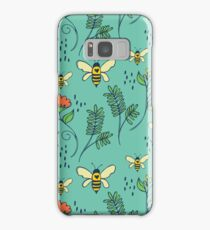 Bees and Flowers Samsung Galaxy Case/Skin