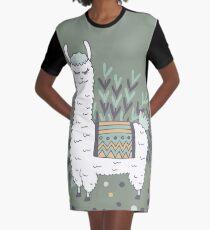 Smug Lama T-Shirt Kleid