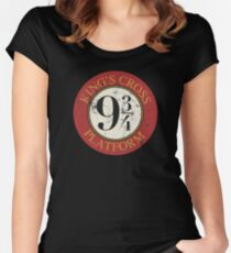 Platform 9 3/4 Distressed Women's Fitted Scoop T-Shirt