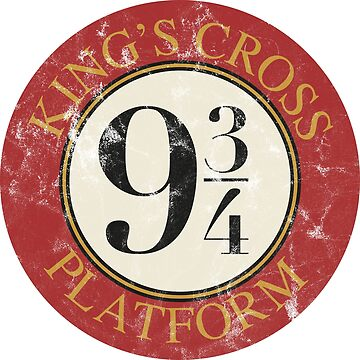 Platform 9 3/4 Distressed by MediaBee