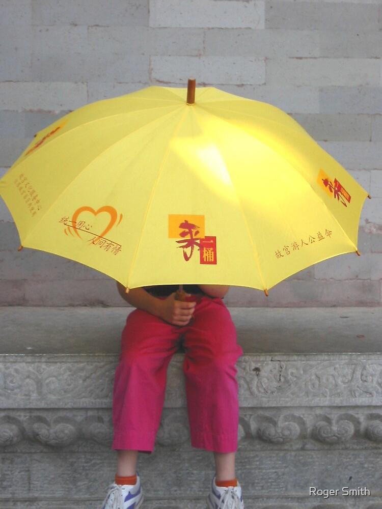 Umbrella - The Forbidden City Beijing China 2002 by Roger Smith