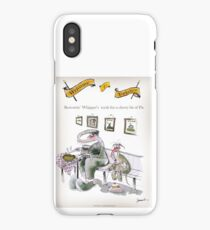 Funny Yorkshire 'borrowing whippet's teeth' iPhone Case/Skin