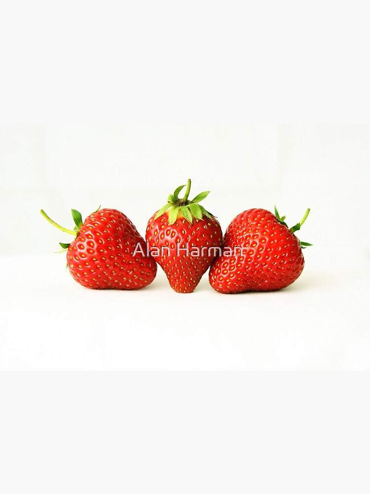 Three Strawberries On White by AlanHarman