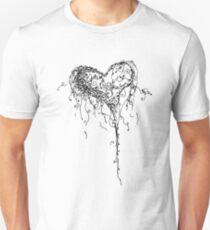 Inkling of Heart in black & white T-Shirt