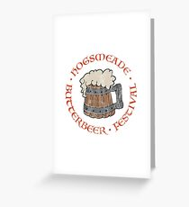 Butterbeer Festival (distressed) Greeting Card