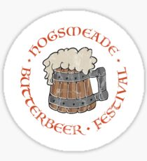 Butterbeer Festival (distressed) Sticker