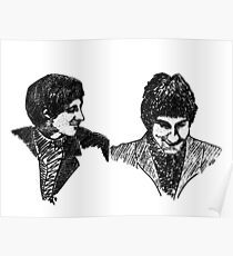 John Entwistle & Pete Townshend - Graphic Portrait Poster