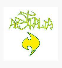 Australia Graffiti and Logo Photographic Print