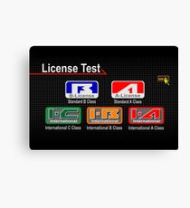 Gran Turismo 2 License  Canvas Print