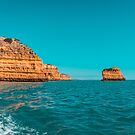 Coastal Boat Trip in Glorious Teal and Orange by Georgia Mizuleva