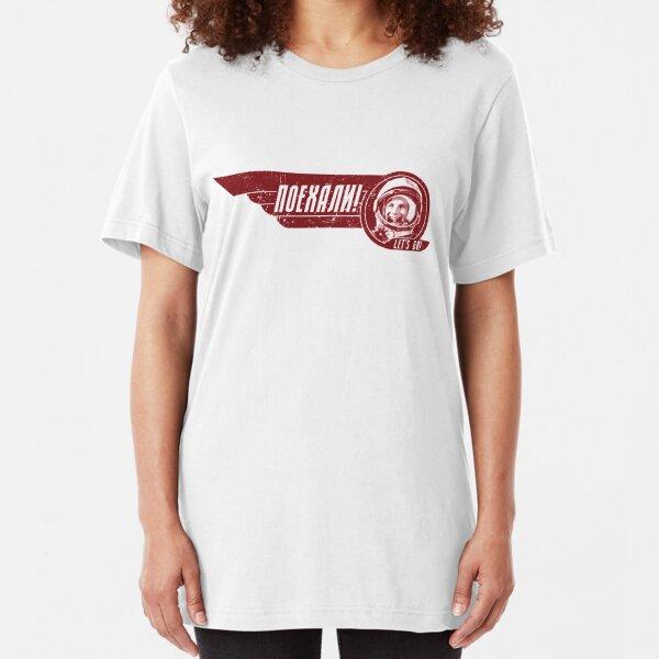 LET'S GO! Yuri Gagarin - Light Shirt Version Slim Fit T-Shirt