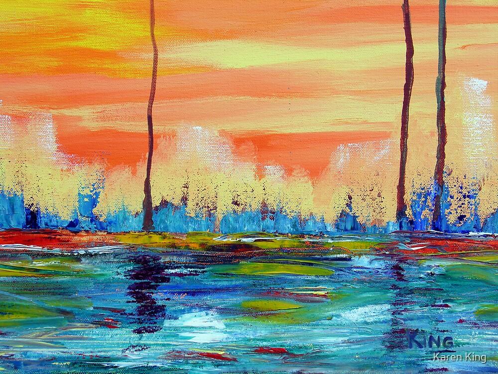 Tree pond by Karen King