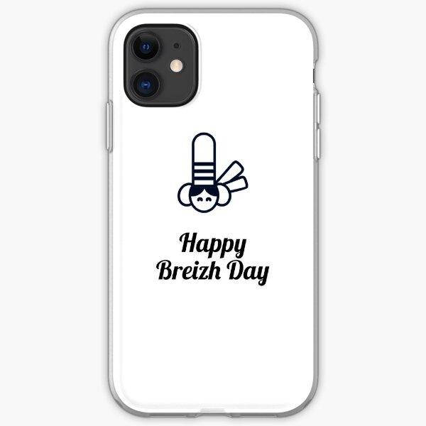SOUVENIRS DE BRETAGNE : HAPPY BREIZH DAY - N°5 Coque souple iPhone