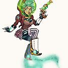Steampunk Space Princess by stieven