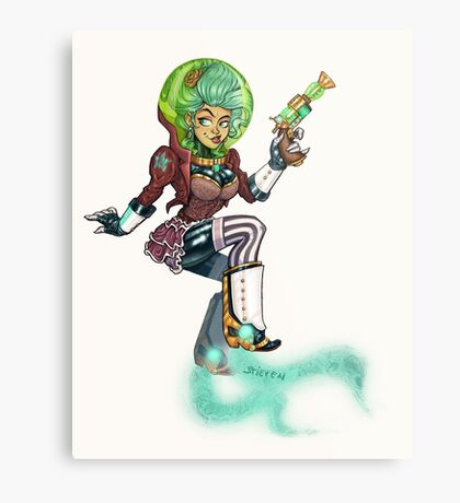 Steampunk Space Princess Metal Print