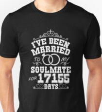 47th Wedding Anniversary Tshirts. Couples Gifts Unisex T-Shirt
