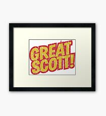 Great Scott! distressed logo Framed Print