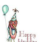 Happy birdday by Jenny Wood