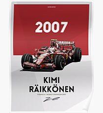 Kimi Raikkonen Poster