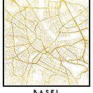 BASEL SWITZERLAND CITY STREET MAP ART by deificusArt