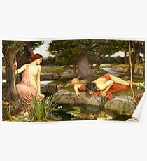 Echo und Narcissus - John William Waterhouse Poster