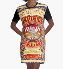 Elephant Circus Party  Graphic T-Shirt Dress