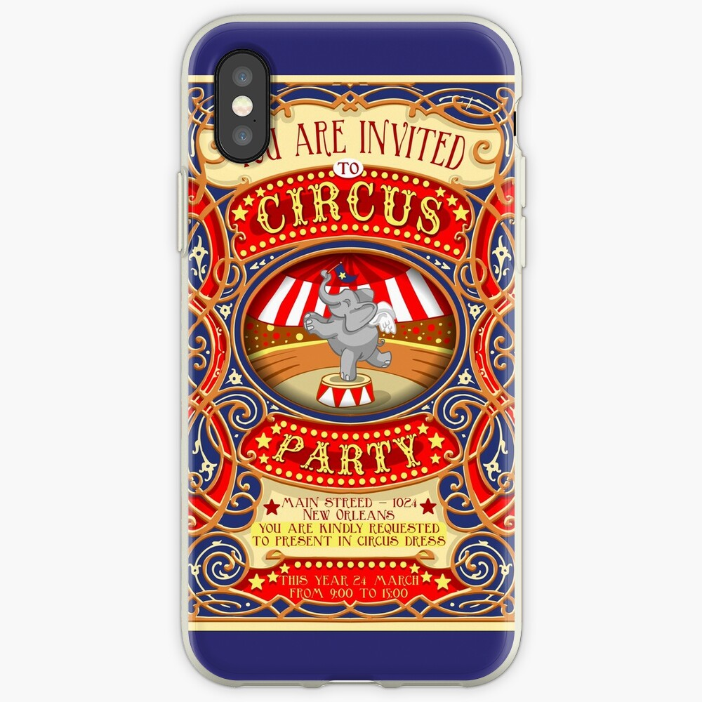 Dumbo Flying Elephant Circus Party  iPhone Cases & Covers