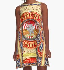 Dumbo Flying Elephant Circus Party A-Linien Kleid