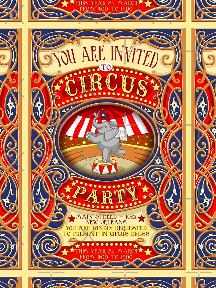 Dumbo Flying Elephant Circus Party  by aurielaki