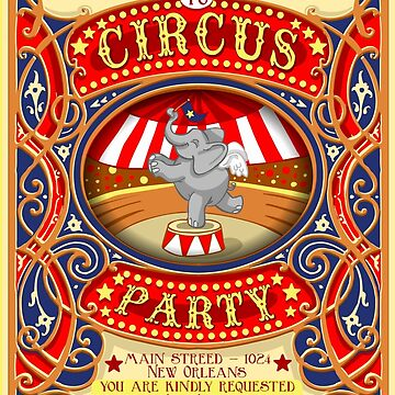 Elephant Circus Party  by aurielaki