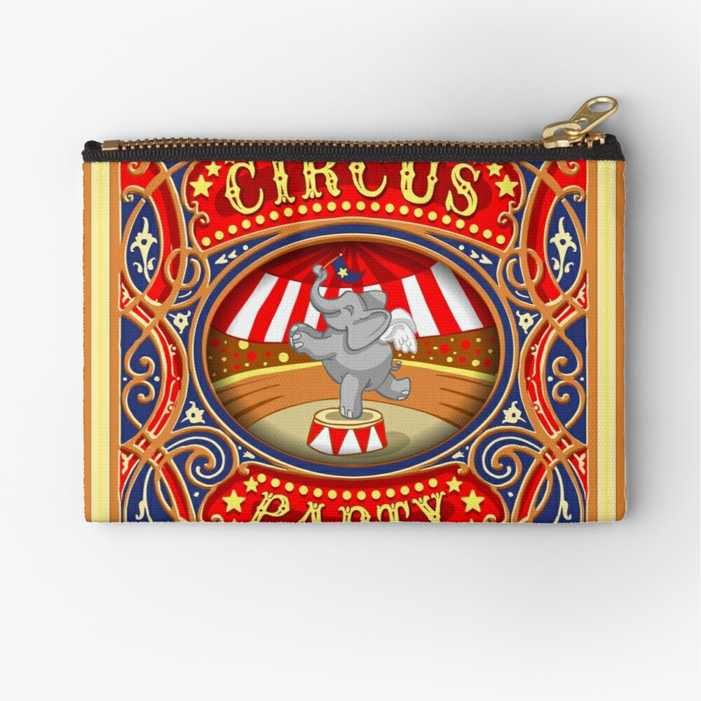 Dumbo Flying Elephant Circus Party  Zipper Pouch