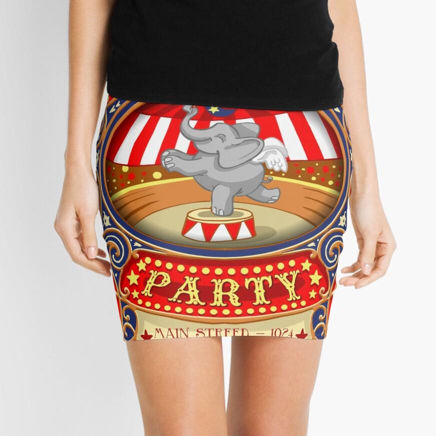 Dumbo Flying Elephant Circus Party  Mini Skirt