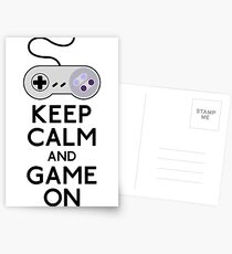 Keep Calm And Game On Postcards