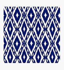 Blue Batik Pattern 6 Photographic Print