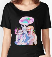 *SHIRT*ONEYPLAYS ! DINGDONG JULIAN AND ONEYNG ! 80'S VAPORWAVE VIBE Women's Relaxed Fit T-Shirt