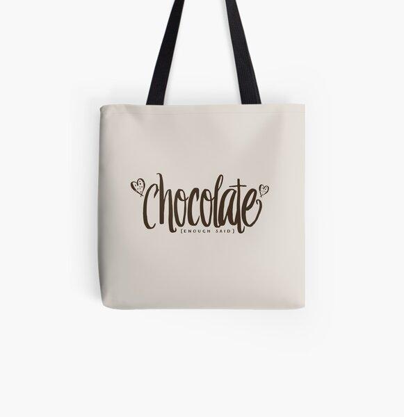 chocolate [enough said] All Over Print Tote Bag