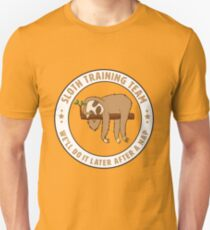 Funny Sloth Training Team Design - After A Nap T-Shirt